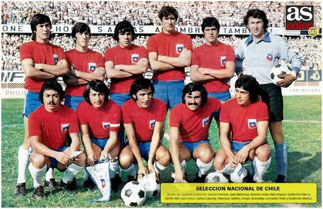 Formación de Chile ante Perú, Clasificatorias Alemania Federal 1974, 29 de abril de 1973