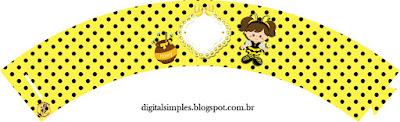 Wrappers para cupcakes de Nena Disfrazada de Abejita