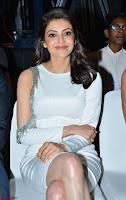 Beautiful Smiling Kajal Aggarwal in Creamy White Gown at MLA Telugu Movie Success Meet ~ .com Exclusive Pics 019.jpg
