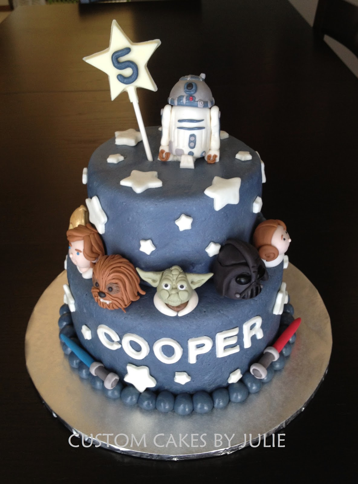 Star Wars Cake Chocolate With Vanilla Ercream Fondant