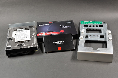 replacing a hard disk drive with a solid state drive