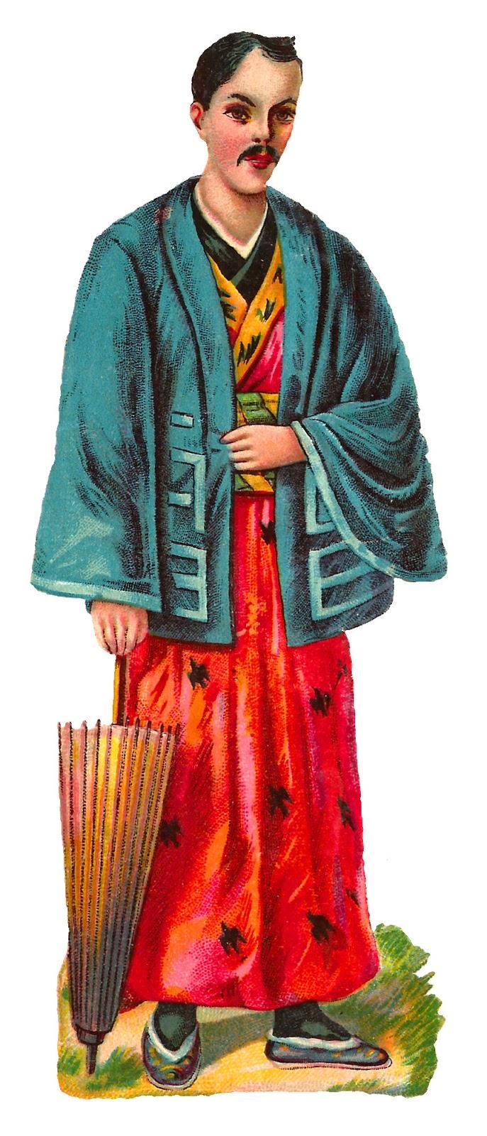 Antique Images: Royalty Free Vintage Kimono Fashion Clip ...