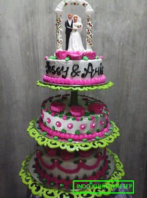 Indo Kuliner Resep 6 Gambar Kue Ulang Tahun Pernikahan