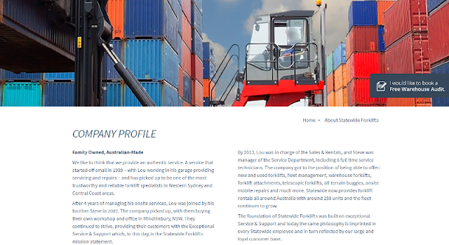 trusted supplier and rental services provider of forklift and other equipment