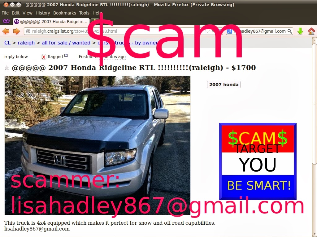 Vehicle Scams Google Wallet Ebay Motors Amazon Payments Ebillme Scama Engine Wiring Harness Craigslist Scam Ads Detected 02 27 2014 Update 2