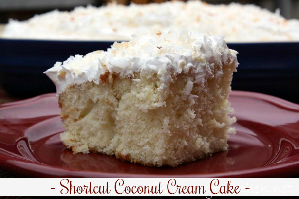 Shortcut Coconut Cream Poke Cake