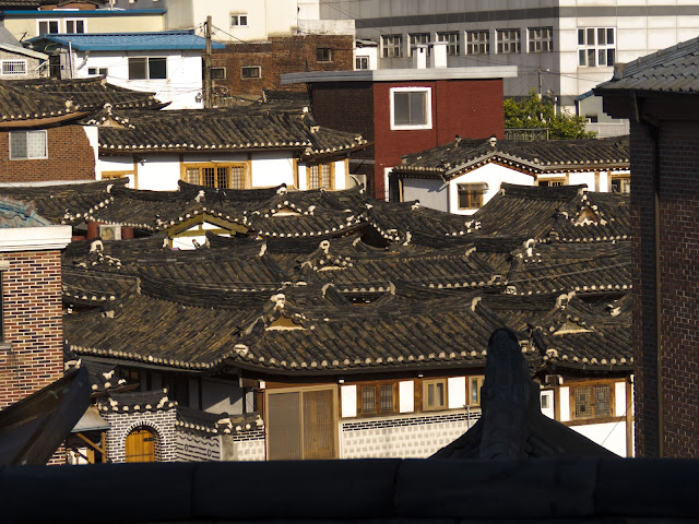 Hanok Village rooftops in Seoul South Korea