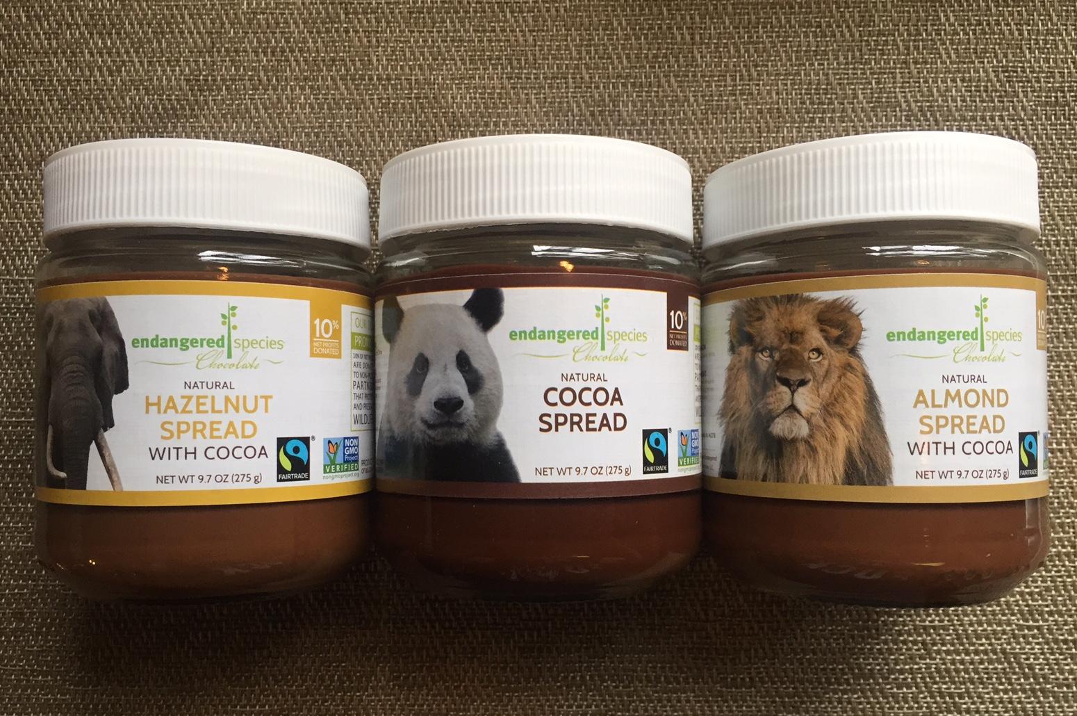 Vegan Crunk: Endangered Species Chocolate Spreads!