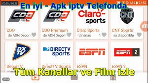 En iyi  Apk iptv Telefonda Tüm Kanallar ve Film izle