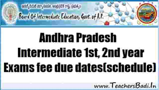 ap inter 1st,2nd year annula exams fee due dates,ap inter time table,inter hall tickets,results,schedule 2017-2018