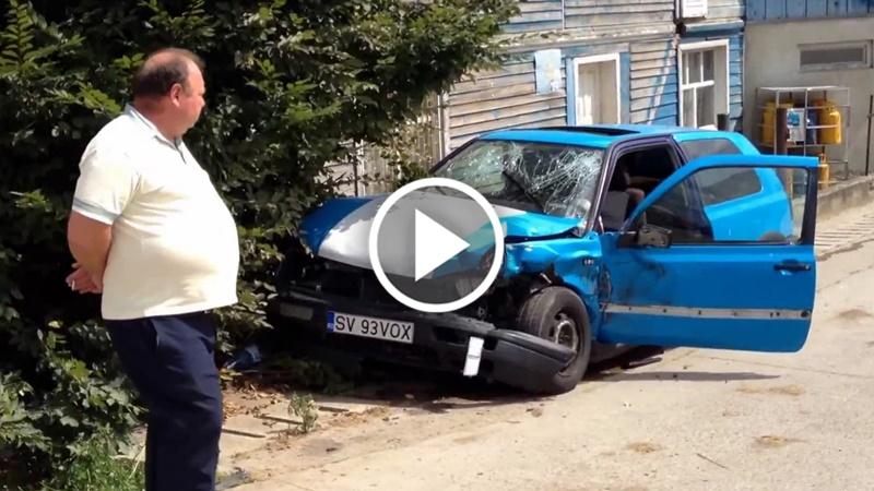 VIDEO Accident la Ilișești, 24 august 2016