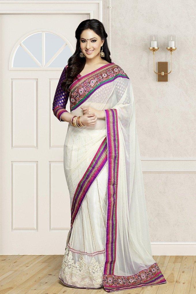 Nikesha Patel Awesome In Saree New Photoshoot