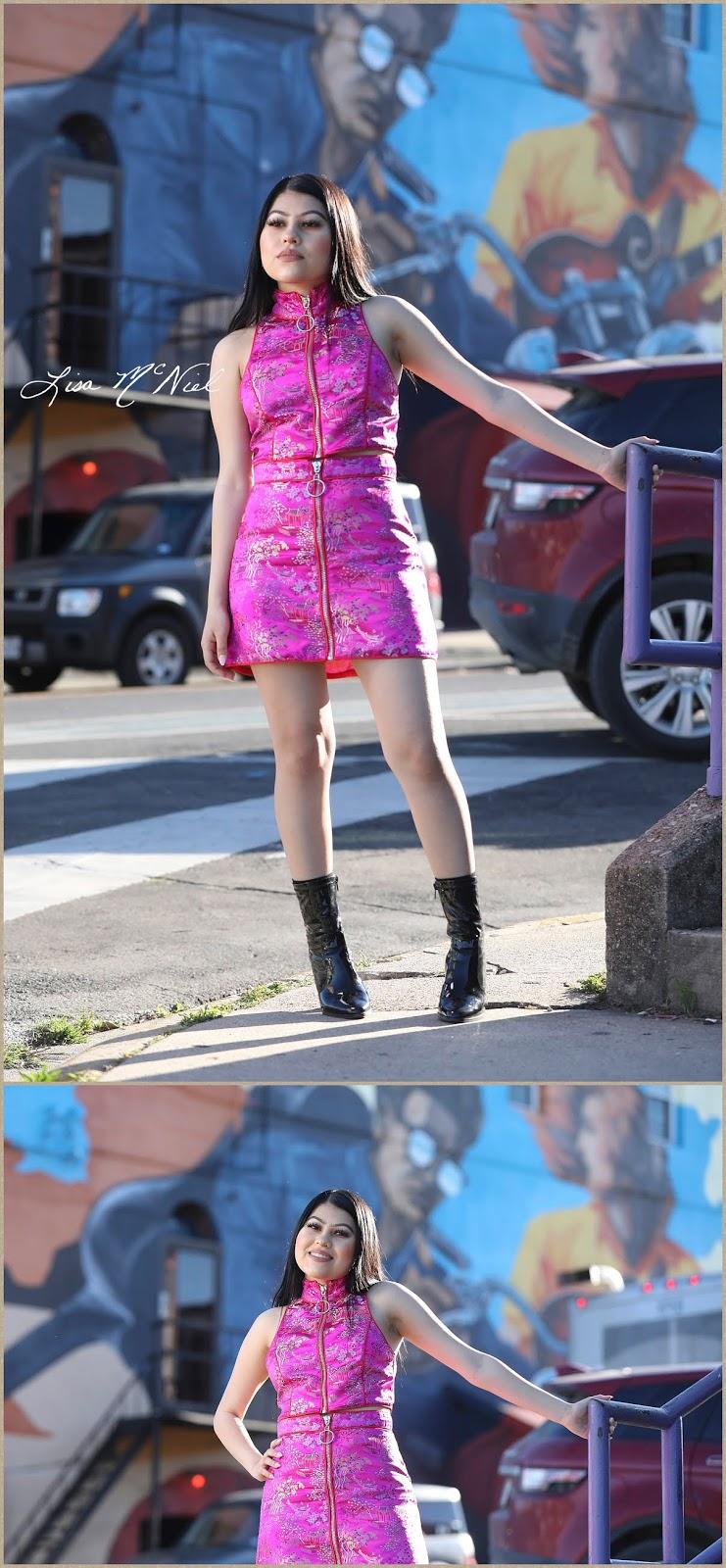teen girl with graffiti