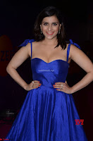 Mannara Chopra in Deep Neck Blue Gown at Zee Telugu Apsara Awards ~  Exclusive 017.jpg
