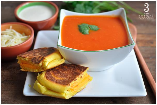 sopa tomate com creme de leite