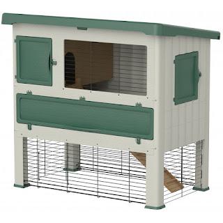 Voorbeeld van konijnenhokken voor buiten
