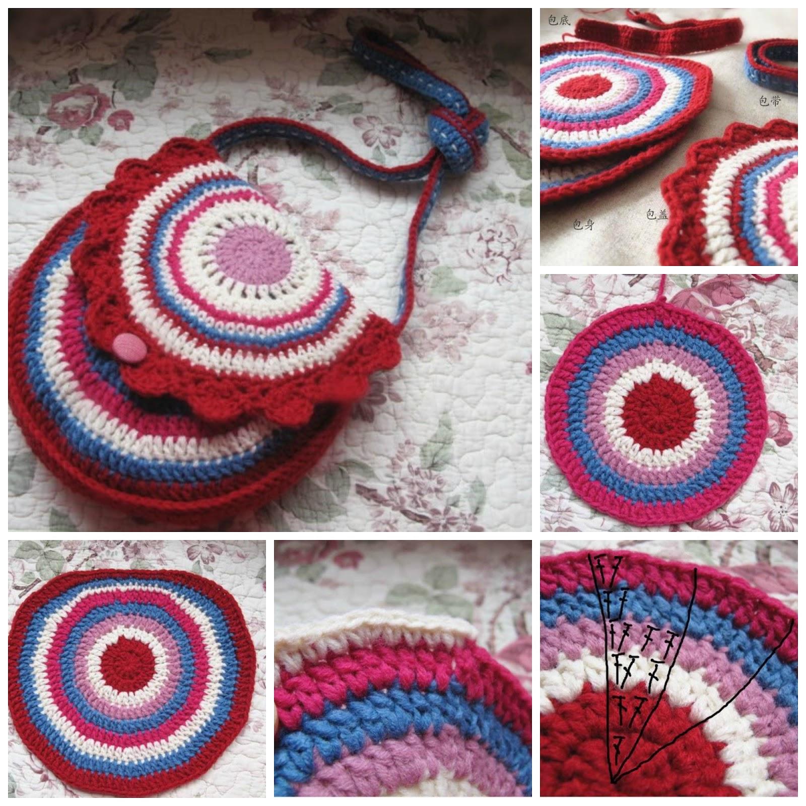 Moderno Crochet Patrón Correa Del Bolso Bandera - Manta de Tejer ...