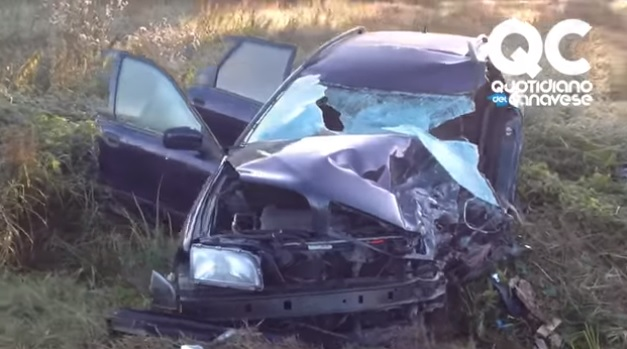 Volvo V40 after the accident