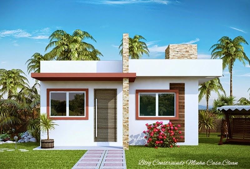 Construindo minha casa clean fachadas de casas simples for Casa minimalista chica