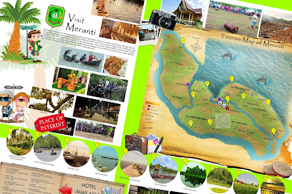 Peta Wisata Kabupaten Meranti - Tourism Map of Meranti - Riau - Indonesia