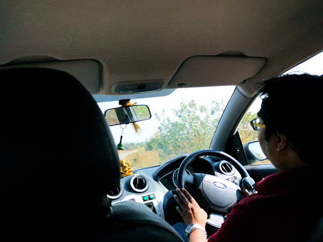 Inside of the car-one day trip to srisailam from hyderabad