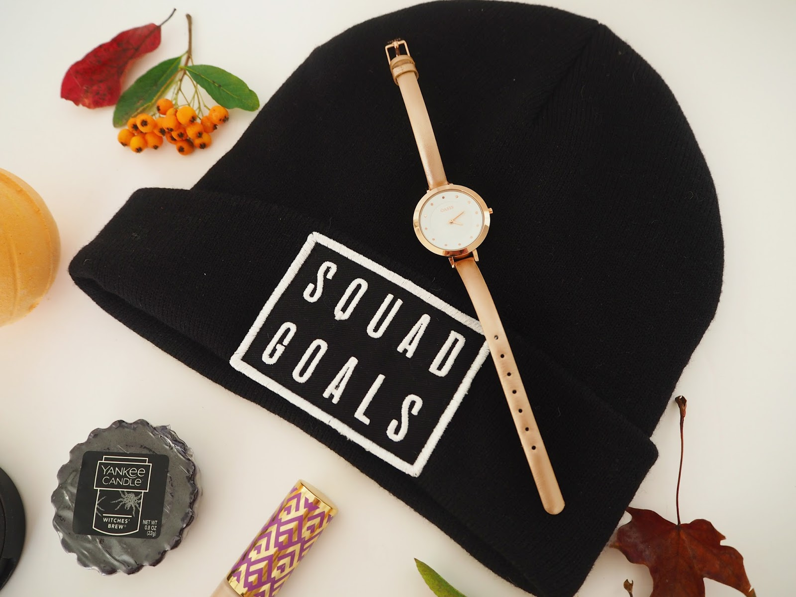 Loves List: October, Katie Kirk Loves, River Island Hat, Squad Goals Hat, Beanie Hat, Fashion Blogger, UK Blogger
