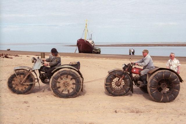Shoyna, un pueblo ruso bajo la arena
