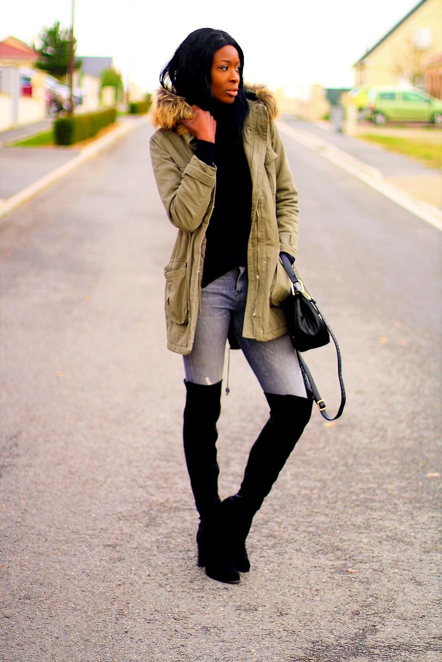 parka-kaki-col-fourrure-cuissardes-blogger-style
