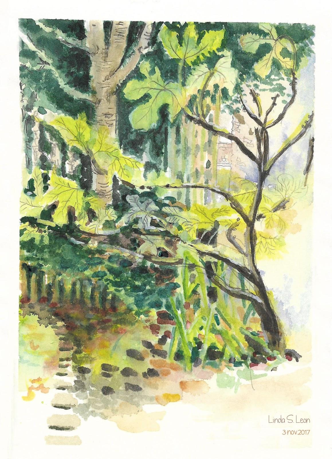 Herfst in mijn tuin door Linda S. Leon