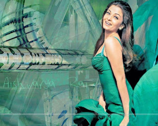 Smiley Aish In Green Dress