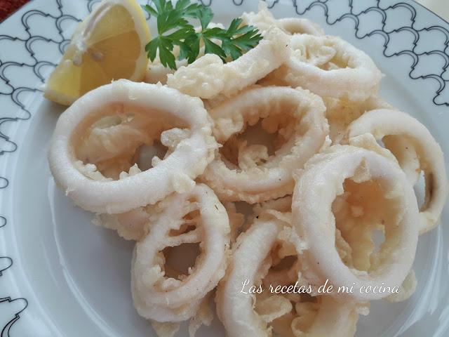 Calamares en tempura