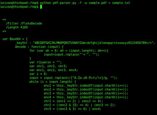 LAB 69: Analyzing malicious PDF