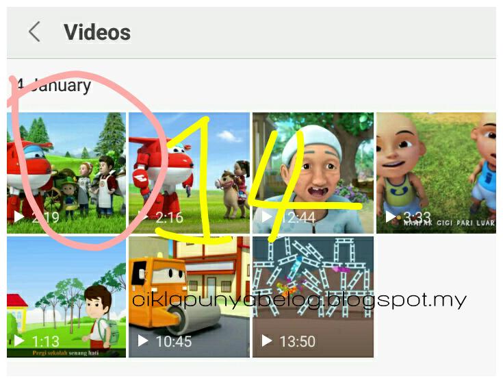 [Entri Bergambar] 15 langkah mudah menyimpan video dari YOUTUBE ke galeri telefon.