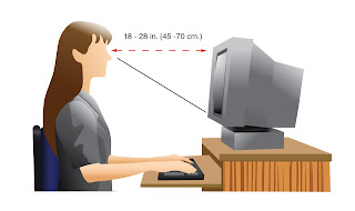 Eye level measurement for computer monitor