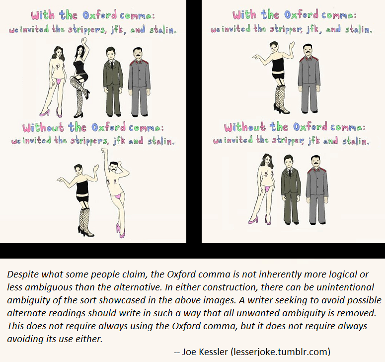 language hippie on pedantry ambiguity and the oxford comma