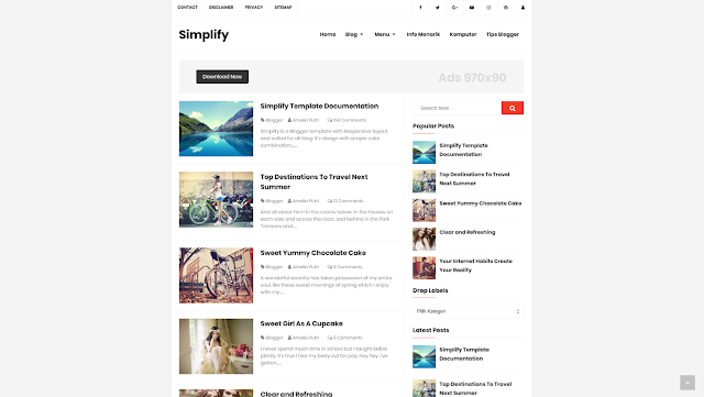 Simplify 1 Responsive Blogger Template