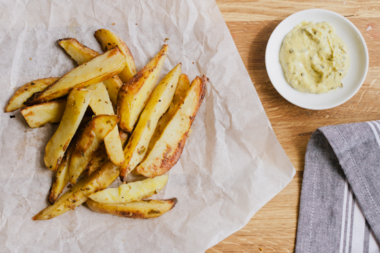 mustard baked fries & june foodie pen pals