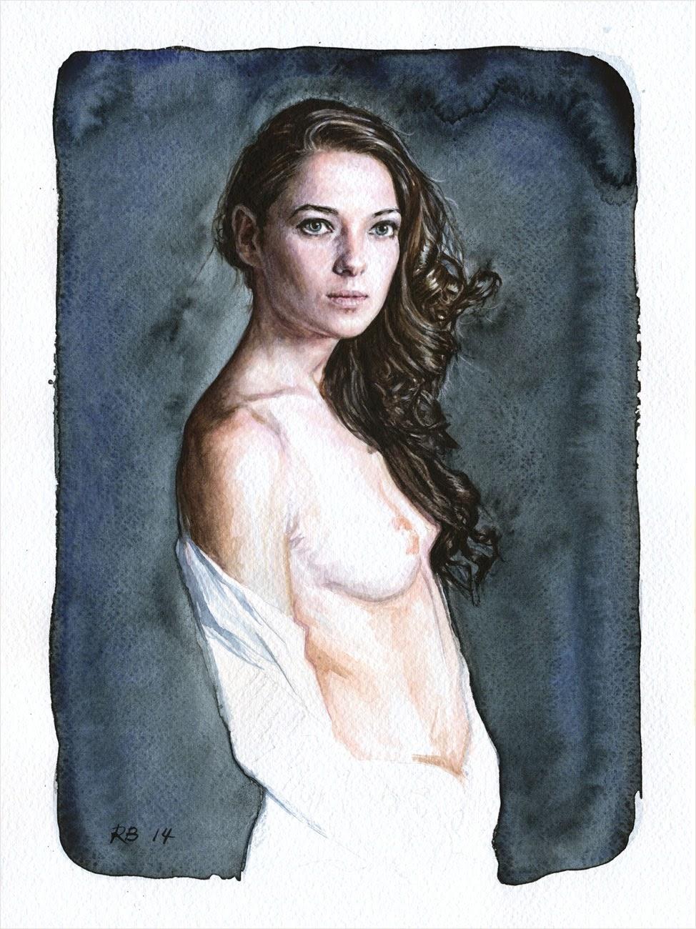 René Bui - Etude de nu à l'aquarelle 140109 - 2014