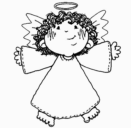 Dibujos De Angeles De Navidad Para Pintar.Dibujos Y Plantillas Para Imprimir Angelitos