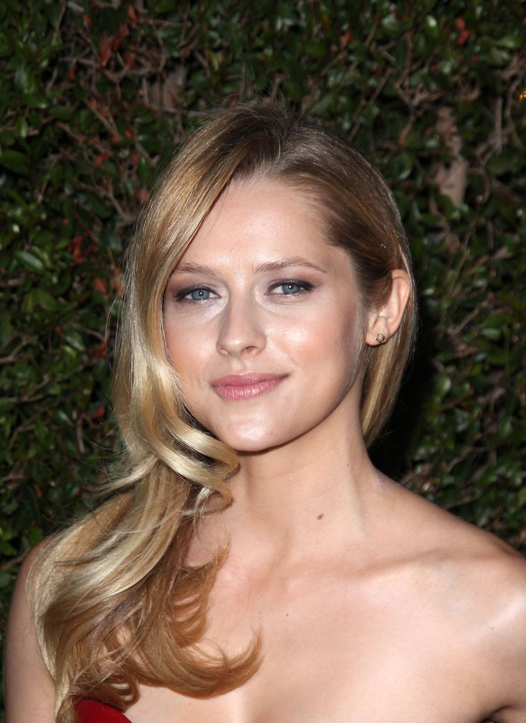 Teresa Palmer in Hot Red Dress At Valentino 50th Anniversary And New Store Opening In Beverly Hills