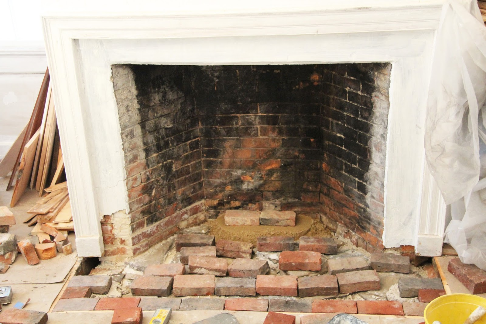 in the fields restoring a closed fireplace
