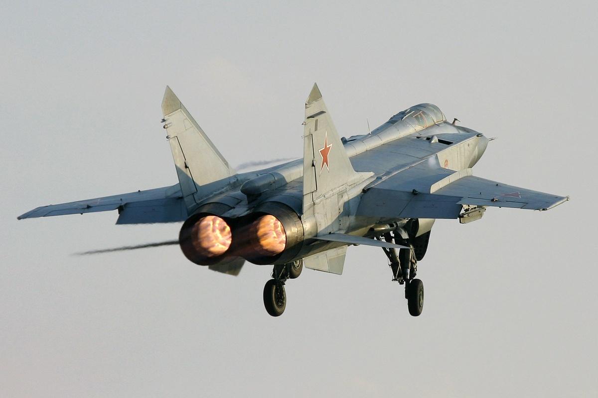 Mikoyan Gurevich Mig 31 Foxhound Of Russian Air Force Aircraft