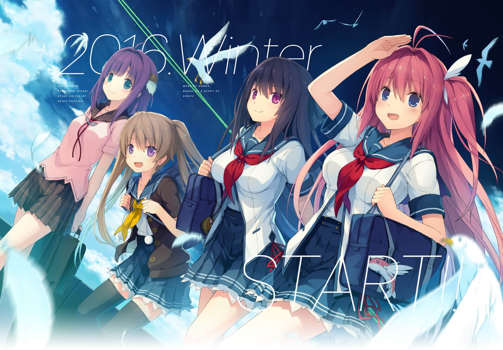 Ao no Kanata no Four Rhythm [BD] Sub Indo : Episode 1-12 END