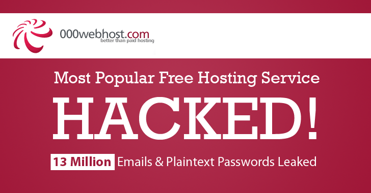 Biggest Free Hosting Company Hacked; 13.5 Million Plaintext Passwords Leaked