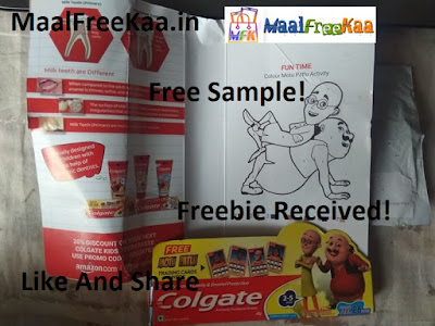 Free Sample Colgate Anticavity Toothpaste