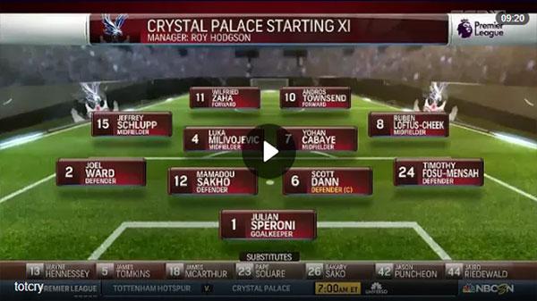 Video Tottenham 1 - 0 Crystal Palace Ngoại Hạng Anh vòng 11