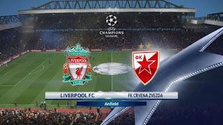 مشاهدة مباراة ليفربول وسرفينا زفيزدا بث مباشر صلاح