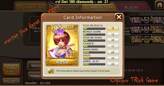 Trik dan cara untuk mendapatkan kartu S+ dan 1000 diamond gratis dari Line get rich