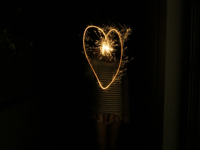 milky way blogger fun with sparklers
