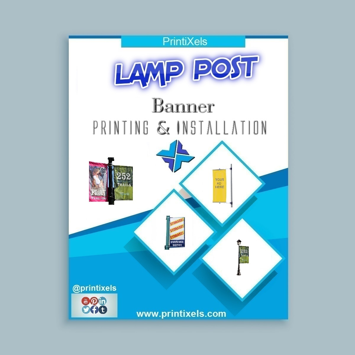 Lamp Post Banner Printing & Installation